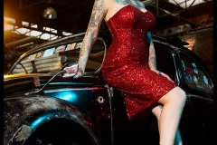 Red dress Tina
